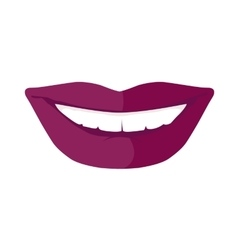 Women s Smile with Shining White Teeth vector image