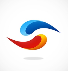 abstract circle swirl logo vector image