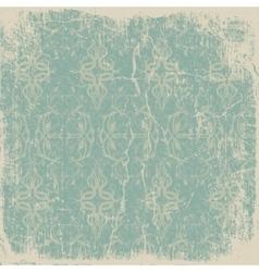 old worn vintage card vector image