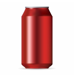 Realistic red aluminum can vector image