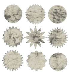 Collection of grunge shapes design elements for vector image