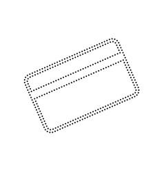 credit card symbol for download black vector image