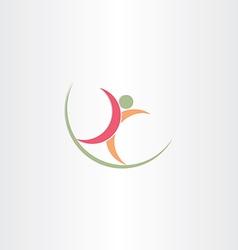 healthy man walking logo icon vector image