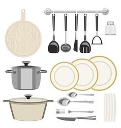 Kitchen utensils vector