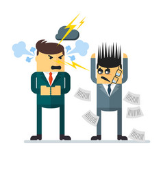 quarell angry boss vector image