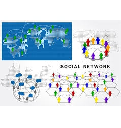 social network structure vector image vector image