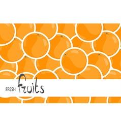 A lot of juicy oranges vector image vector image