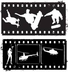 film strip grunge vector image vector image