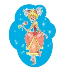 Romantic girl cartoon vector image
