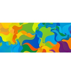 Summer background Polygonal colorful brazilian vector image vector image