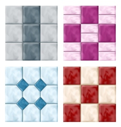 Tile set pattern vector image vector image