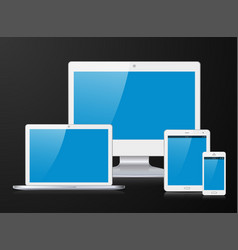 white electronic device vector image