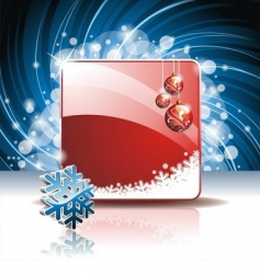 Christmas illustration with 3d vector image vector image
