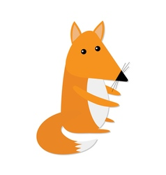 Cute baby fox Cartoon character Forest animal vector image