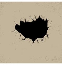 hole black vector image