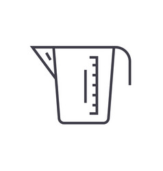 measuring cup line icon sign vector image vector image