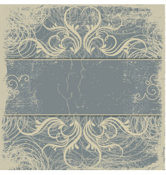 Vintage background antique greeting card vector image vector image