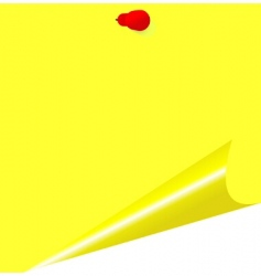 yellow memo stick vector image