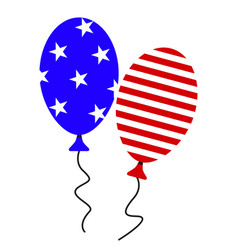 a ball july fourth icons vector image
