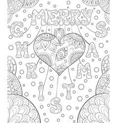 a christmas background with decoration heart and vector image
