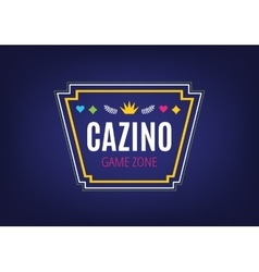 abstract casino logo template for branding and vector image