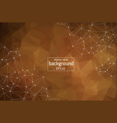abstract dark brown geometric polygonal vector image