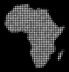 africa map collage of dots vector image