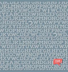 ancient alphabet seamless texture letters and vector image