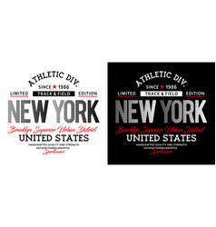 athletic sport new york typography design vector image