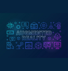 augmented reality colored line horizontal vector image