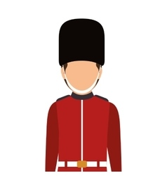 Avatar british guard vector