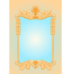 Beautiful ornate rectangle frame vector