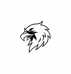 black and white eagle head logo design vector image