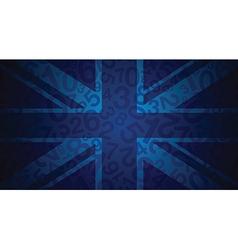 Blue uk flag vector