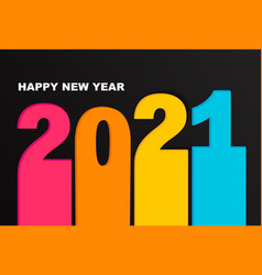 bright banner for new 2021 year vector image