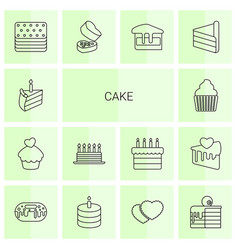 cake icons vector image