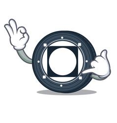 Call me byteball bytes coin mascot cartoon vector