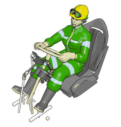 car test dummy in green jump suit on white vector image