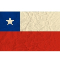 Chile paper flag vector image