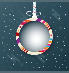 christmas ball banner design abstract vector image