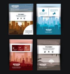 City brochure infographic vector