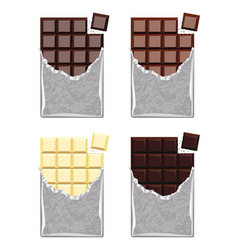 Collection chocolate vector