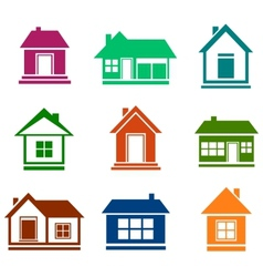 colorful cottage set vector image