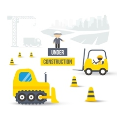 construction site concept city building vector image