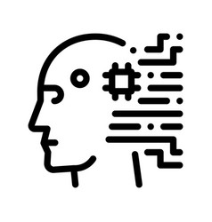 Cyborg artificial intelligence sign icon vector
