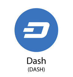 Dash cryptocurrency symbol vector
