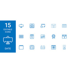 Date icons vector