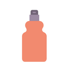 detergent bottle icon in colorful silhouette vector image
