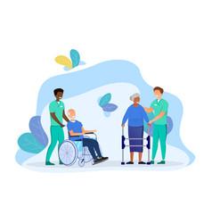 elderly people care vector image