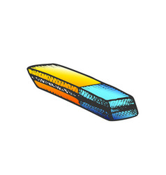 Eraser stationery equipment color vector